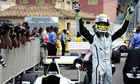 Jenson Button celebrates in Monaco