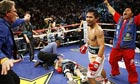 Manny Pacquiaon knocks out Ricky Hatton.