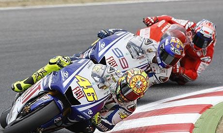 valentino rossi. Valentino Rossi leads Jorge