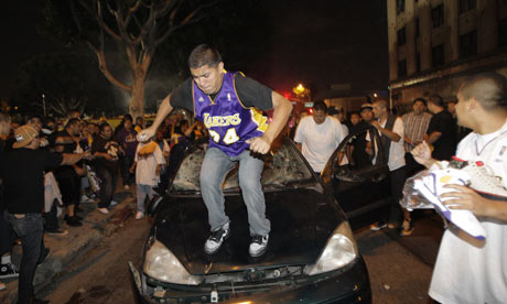 Typical fan of the LA Lakers