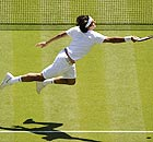 Roger Federer at Wimbledon in 2008