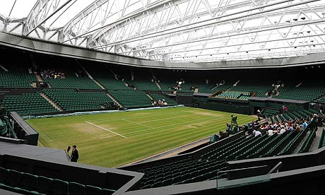 The roof on Centre Court is closed