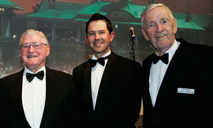 Ricky Ponting, Sam Loxton and Neil Harvey in 2008