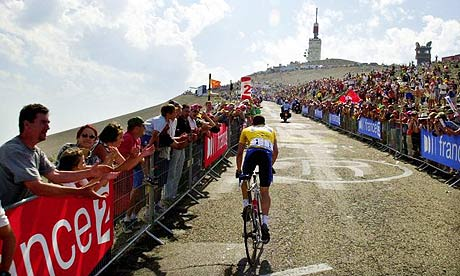 Lance Armstrong tackles Mont Ventoux