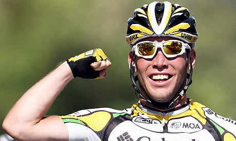 Columbia team rider Mark Cavendish