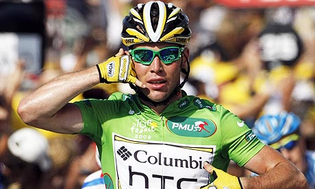Mark Cavendish sprints to stage three victory in Tour de ...