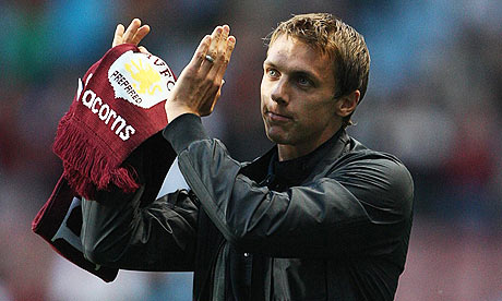 Aston Villa last night signed Stephen Warnock from Blackburn for an initial