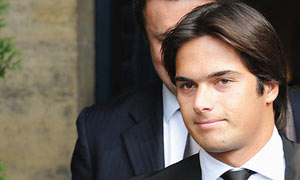 Nelson Piquet Jr at the World Motor Sport Council hearing in Paris today