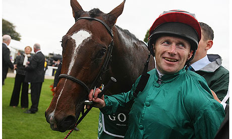 Joe Fanning with Shakespearean at the Curragh