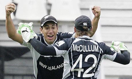 New Zealand's Ross Taylor celebrates