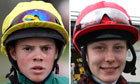 Jamie Kyne, left, and Jan Wilson, the jockeys who died in a North Yorkshire fire