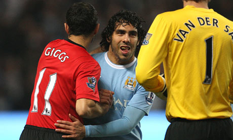 Carlos Tevez and Ryan Giggs