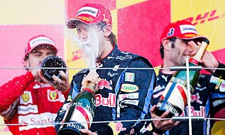Beaming Vettel Leads Red Bull 1-2 in Japanese GP