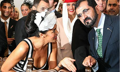 Sheikh Mohammed and Megan Gale