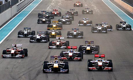 The first corner of the Abu Dhabi GP