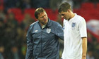 Steven Gerrard goes off during England's defeat to France