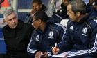 Chelsea's Carlo Ancelotti and Michael Emenalo