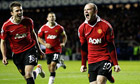 Manchester United's Wayne Rooney celebrates his goal against Rangers
