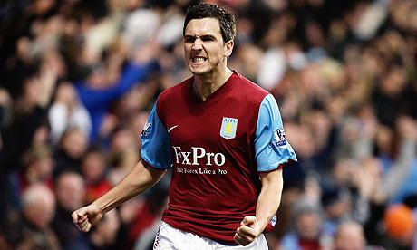 Aston Villa's Stuart Downing