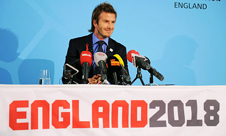 David Beckham played a key role in England's 2018 World Cup bid.