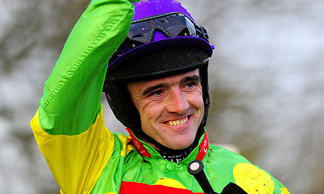Ruby Walsh after victory on Kauto Star in the King George VI Chase at Kempton Park two years ago
