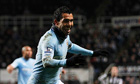 Carlos Tevez strikes twice as Manchester City press title claims