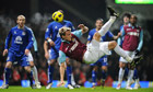 West Ham extend unbeaten run to three by drawing with Everton