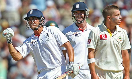 alastair cook cricketer. Alastair Cook celebrates his
