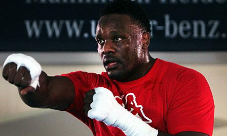 Heavyweight boxer Dereck Chisora from Br