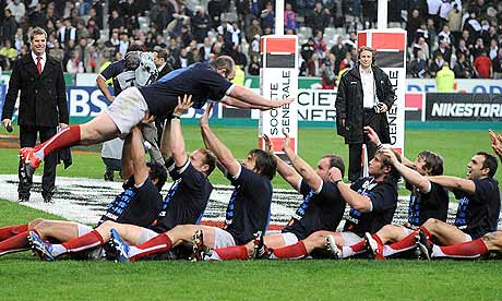 France celebrate winning the Six Nations