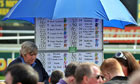 Bookmakers take bets ahead of the Grand National