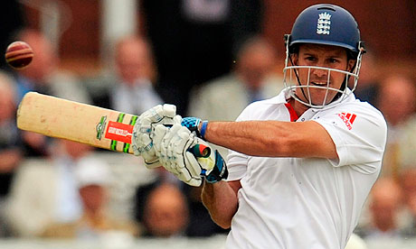 England's Andrew Strauss hits out