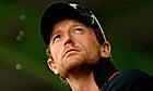 England's Paul Collingwood watches the rain fall