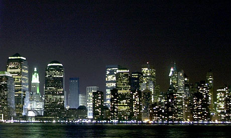 new york city skyline outline. a New York City skyline.