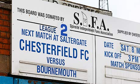 Disabled pitch invader warms the hearts at Saltergate (Chesterfield Bournemouth)