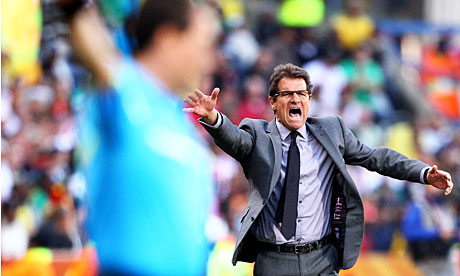 Fabio Capello gets angry