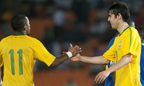 Kaká and Robinho both found the net as things started to gel for Dunga's Brazil in Dar Es Salaam