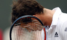 Frustration for Andy Murray