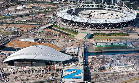 Aquatics centre and Olympic stadium