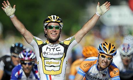 Brtitain's Mark Cavendish wins stage six