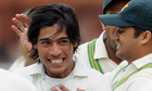 Pakistan's Mohammad Amir celebrates