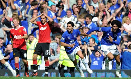Everton score a late equaliser against Man United