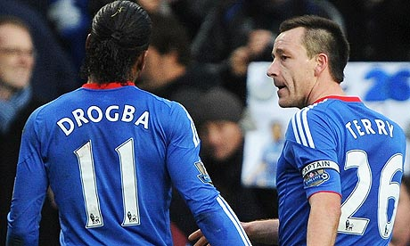 didier drogba 2011. Didier Drogba and John Terry