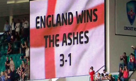England win the Ashes 3-1