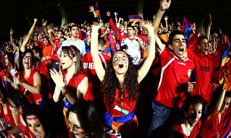 Armenia fans in Euro 2012 qualifying