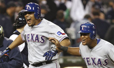 Texas Rangers Nelson Cruz and Adrian Beltre