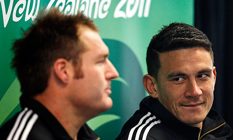 The All Blacks Sonny Bill Williams and Ali Williams