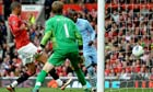 Mario Balotelli scores Manchester City's second goal