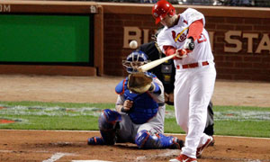 World Series 2011 G7 - David Freese scores