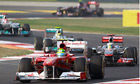 Felipe Massa Lewis Hamilton Indian Grand Prix